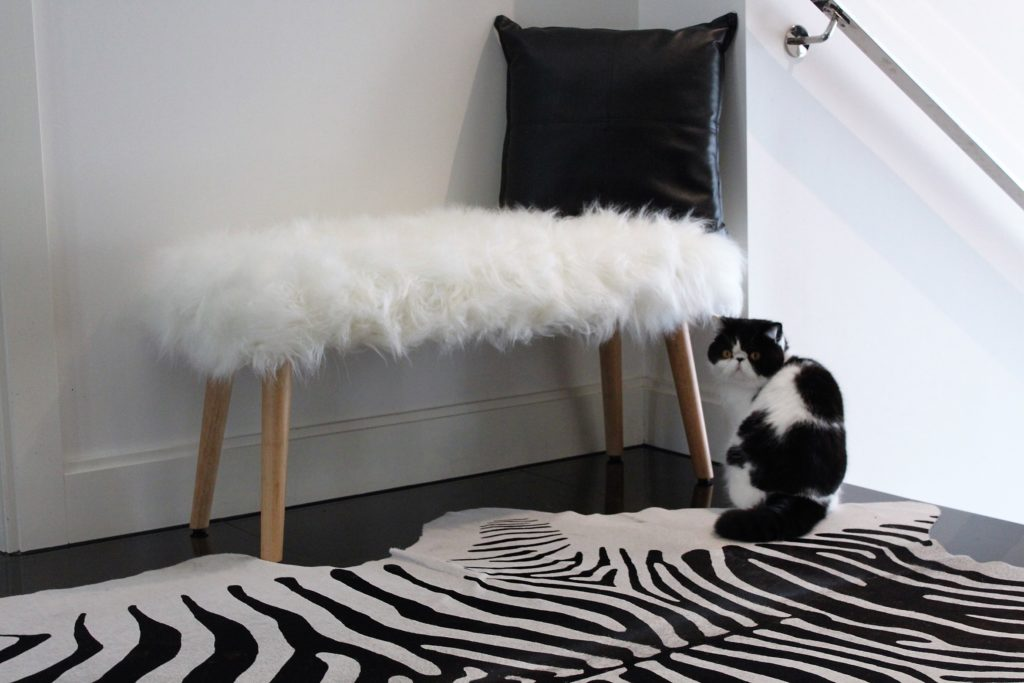 Mongolian Faux Fur Bench 45 Kmart Styling